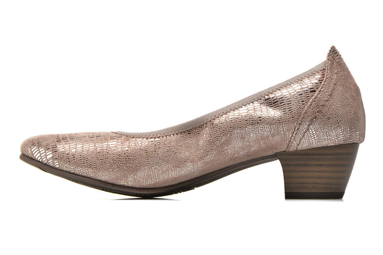 Zapatos de tacón Jana shoes Danina Beige vista de frente