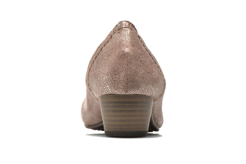 Zapatos de tacón Jana shoes Danina Beige vista lateral derecha
