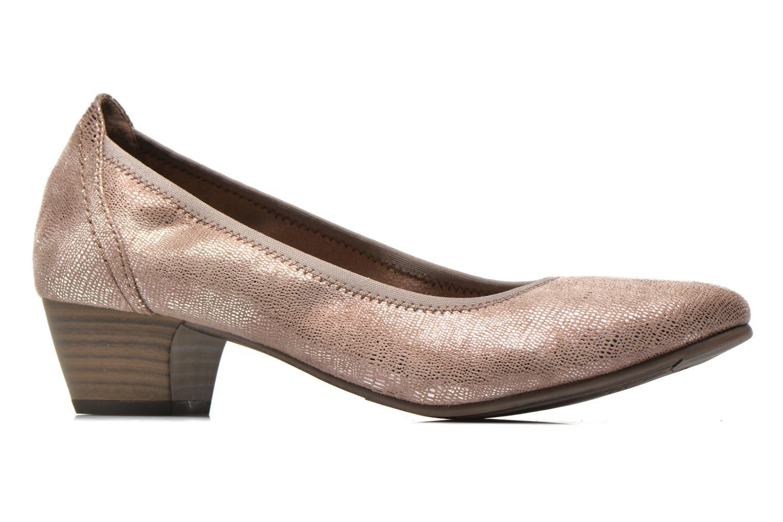 Zapatos de tacón Jana shoes Danina Beige vistra trasera