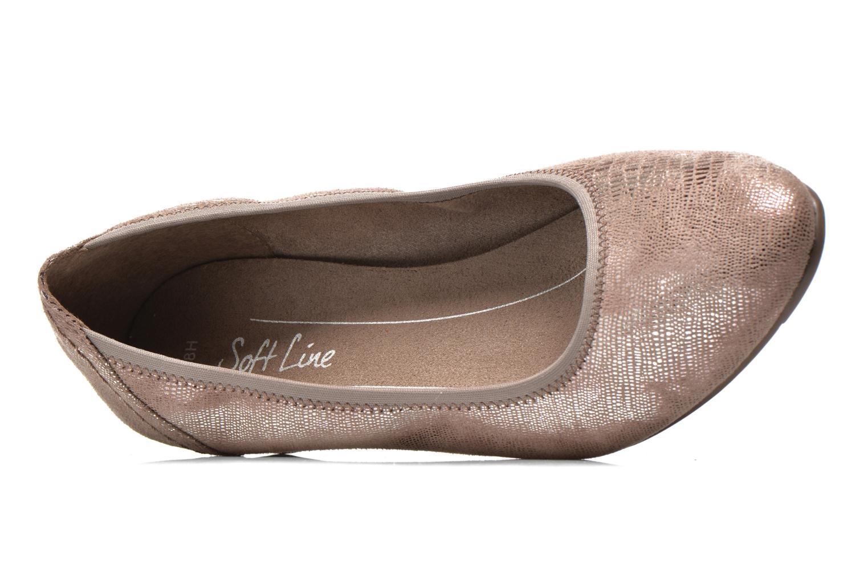 Zapatos de tacón Jana shoes Danina Beige vista lateral izquierda