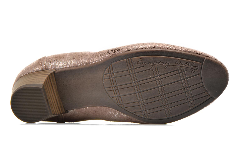 Zapatos de tacón Jana shoes Danina Beige vista de arriba