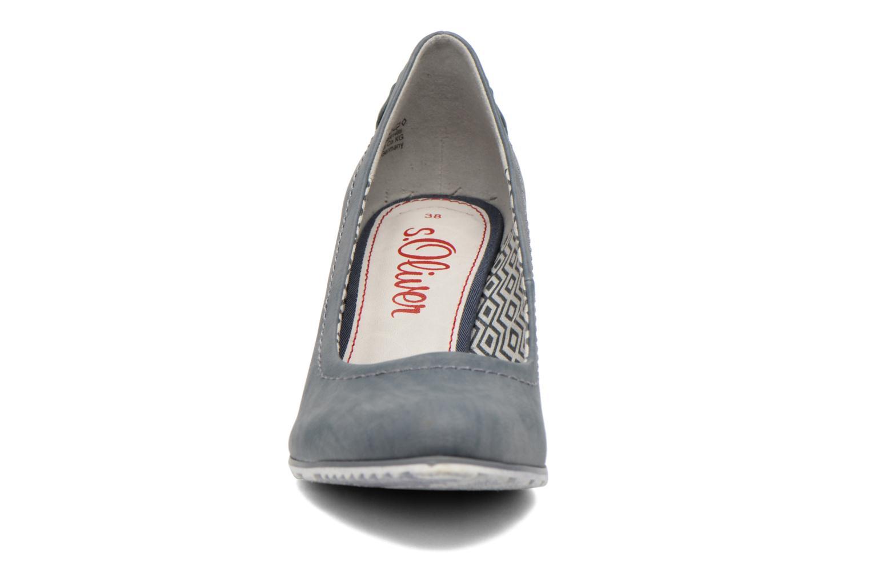 Escarpins S.Oliver Nyelle Bleu vue portées chaussures