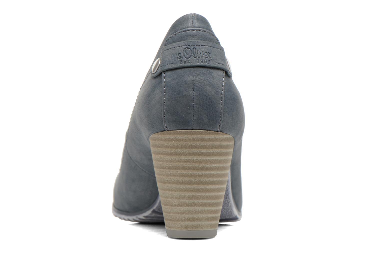 Zapatos de tacón S.Oliver Nyelle Azul vista lateral derecha