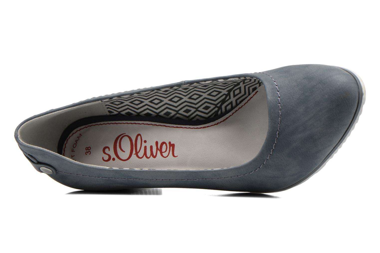 Zapatos de tacón S.Oliver Nyelle Azul vista lateral izquierda