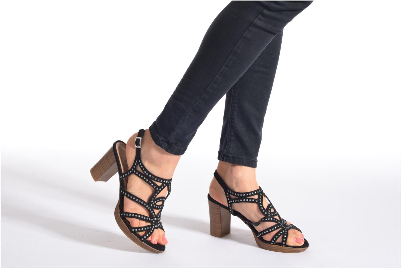 Sandales et nu-pieds S.Oliver Jiloa Noir vue bas / vue portée sac