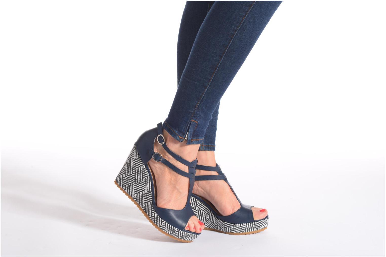 Sandales et nu-pieds S.Oliver Bomana Bleu vue bas / vue portée sac