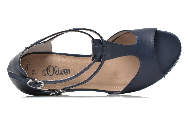 Sandales et nu-pieds S.Oliver Bomana Bleu vue gauche