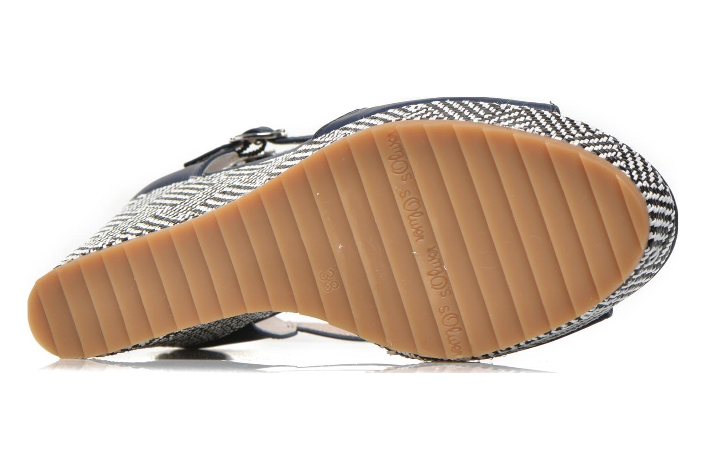 Sandales et nu-pieds S.Oliver Bomana Bleu vue haut