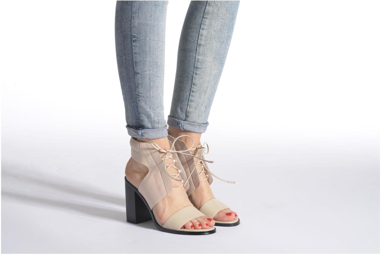 Sandales et nu-pieds SENSO VALLERI VI Noir vue bas / vue portée sac