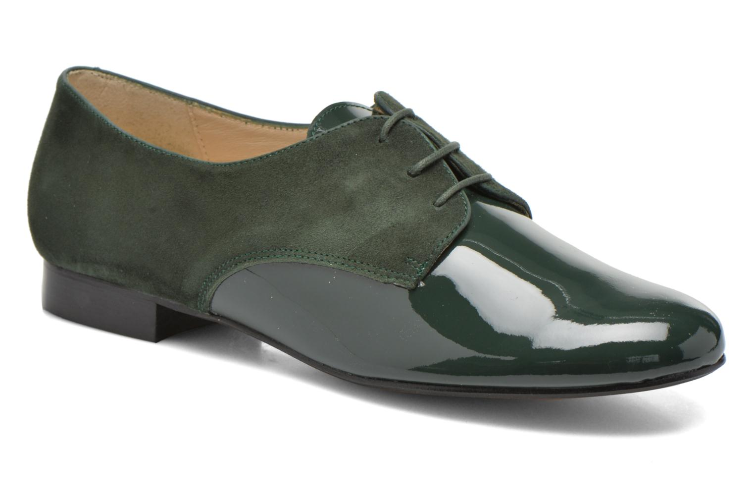 Lace-up shoes Georgia Rose Volplané Green detailed view/ Pair view