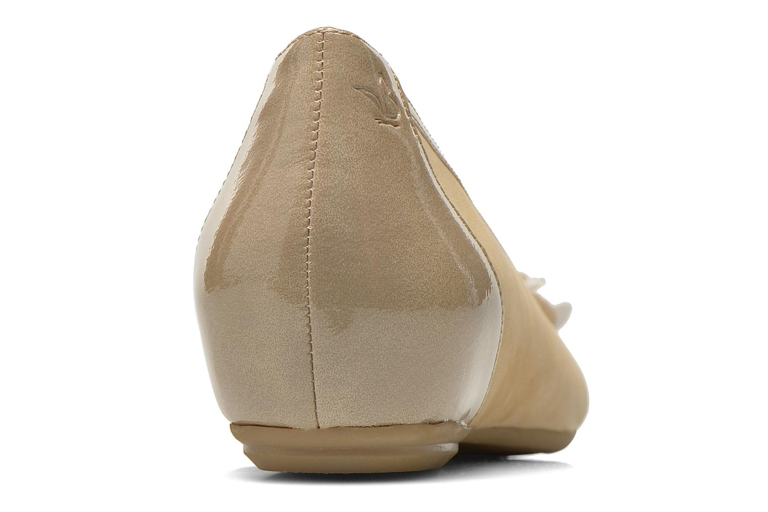 Ballet pumps Caprice Muselo Beige view from the right