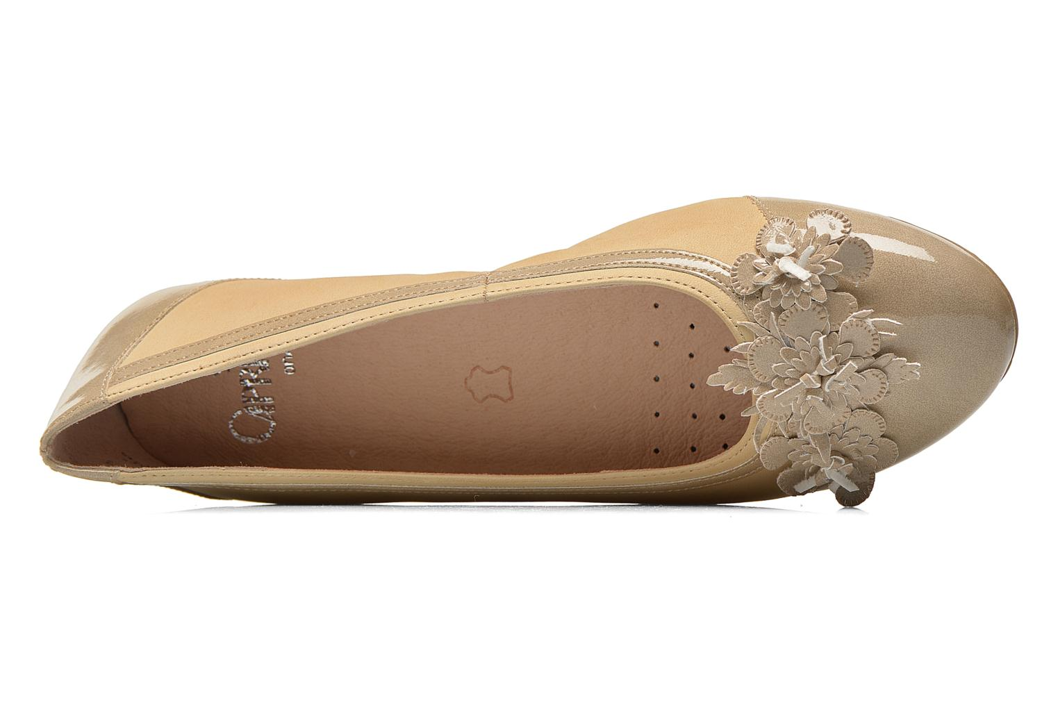 Ballet pumps Caprice Muselo Beige view from the left