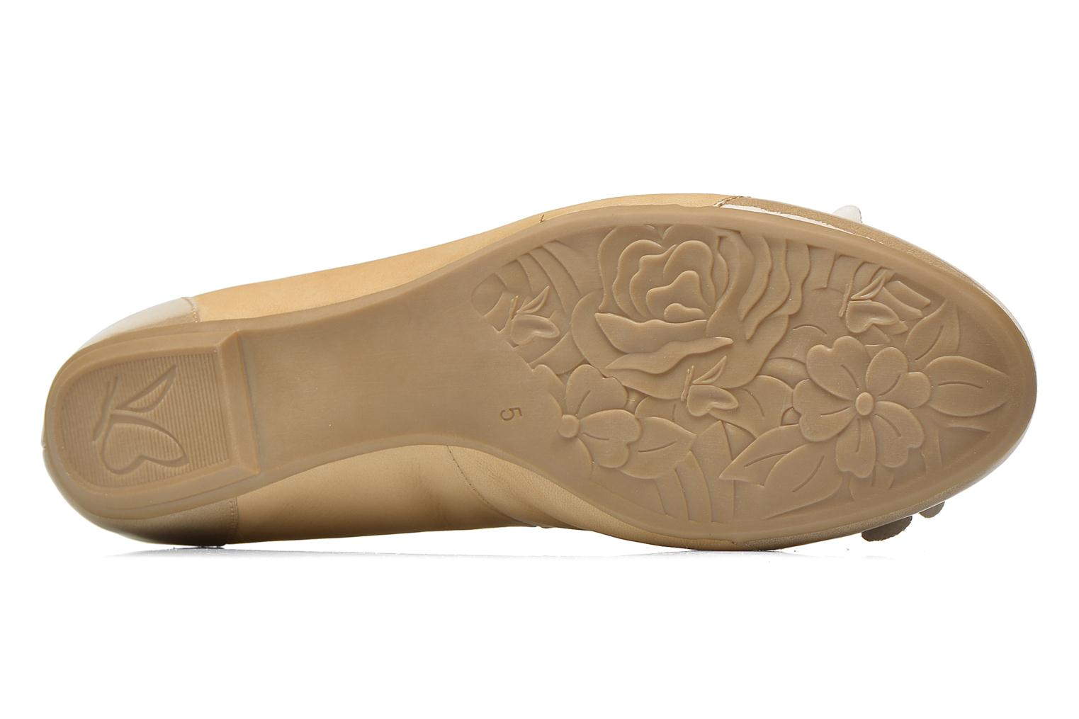 Ballet pumps Caprice Muselo Beige view from above