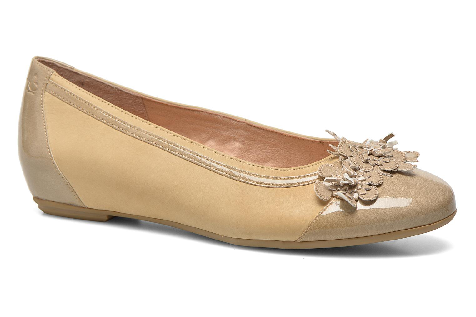 Ballet pumps Caprice Muselo Beige detailed view/ Pair view
