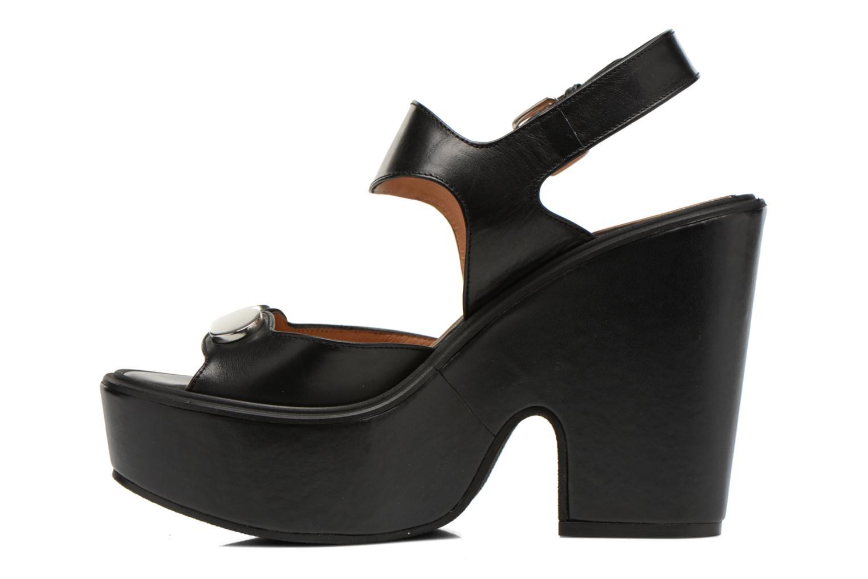 Sandales et nu-pieds Carven Elia Noir vue face