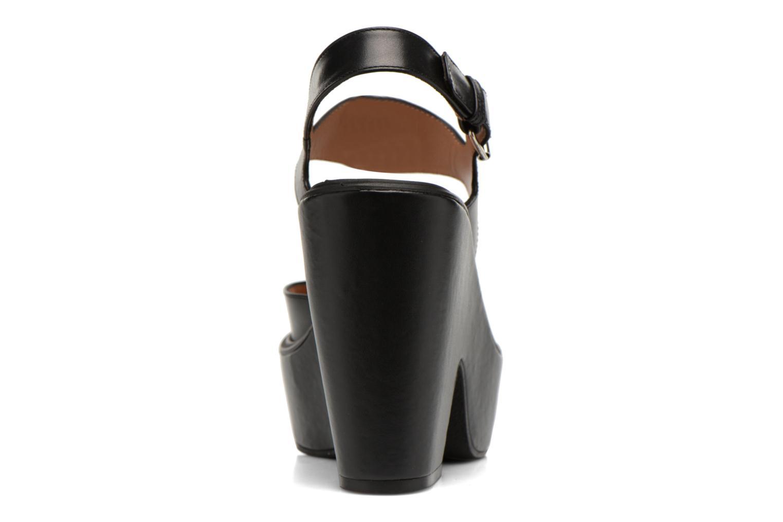 Sandales et nu-pieds Carven Elia Noir vue droite