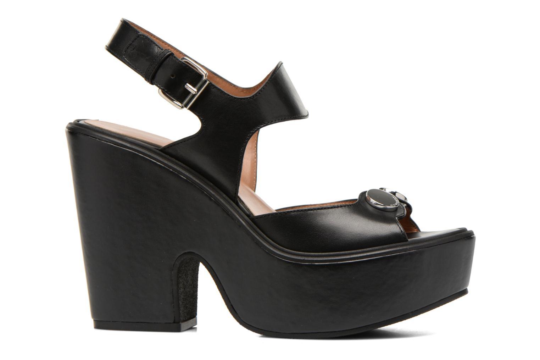 Sandales et nu-pieds Carven Elia Noir vue derrière