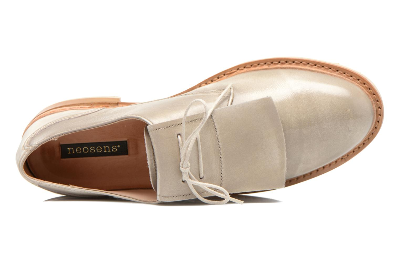 Zapatos con cordones Neosens Hondarribi S895 Beige vista lateral izquierda