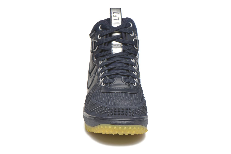 Deportivas Nike Lunar Force 1 Duckboot Azul vista del modelo