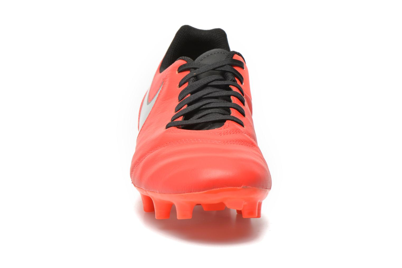 Chaussures de sport Nike Tiempo Genio II Leather Fg Rouge vue portées chaussures