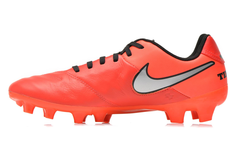 Chaussures de sport Nike Tiempo Genio II Leather Fg Rouge vue face
