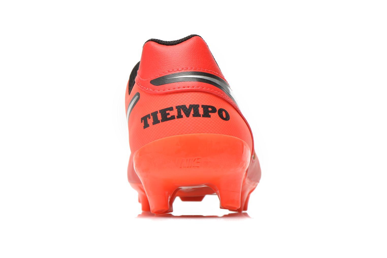 Chaussures de sport Nike Tiempo Genio II Leather Fg Rouge vue droite
