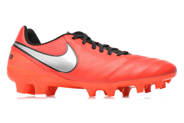 Chaussures de sport Nike Tiempo Genio II Leather Fg Rouge vue derrière
