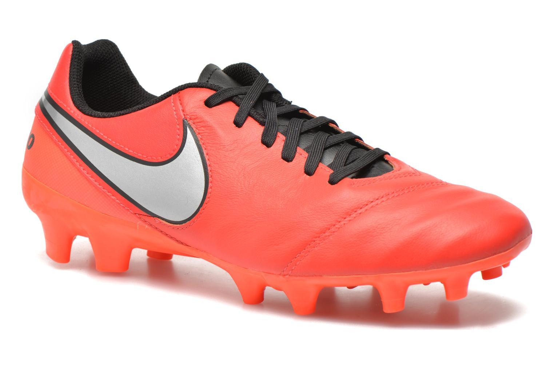 Chaussures de sport Nike Tiempo Genio II Leather Fg Rouge vue détail/paire