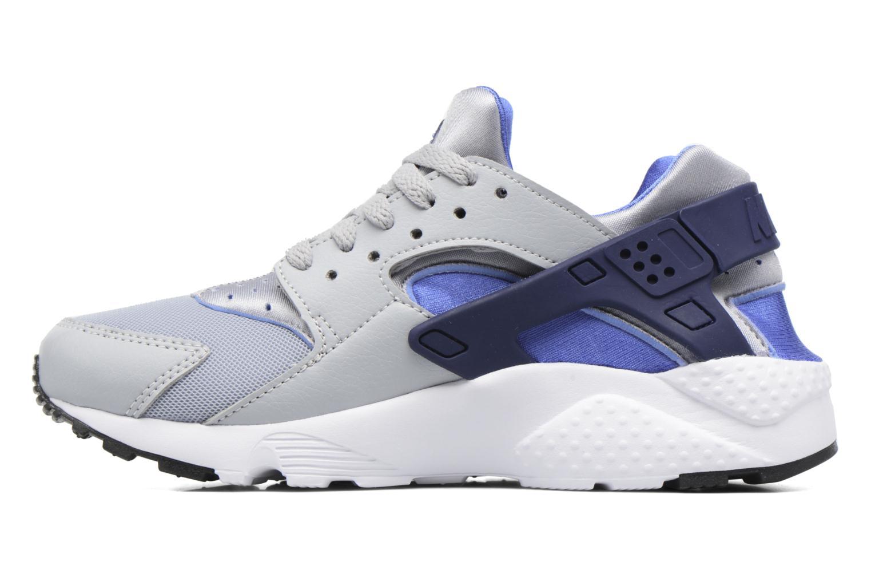 Nike Huarache Run (Gs) Wolf Grey/Binary Blue-Comet Blue-White
