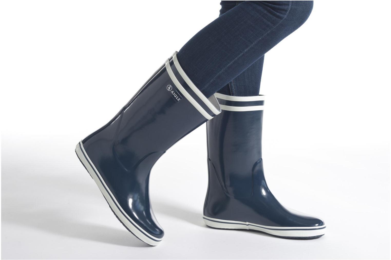 Bottines et boots Aigle Malouine BT Bordeaux vue bas / vue portée sac