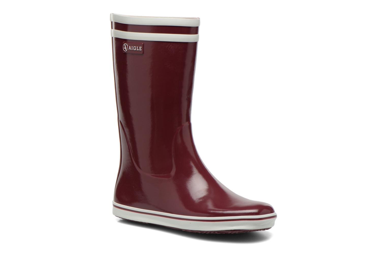 Bottines et boots Aigle Malouine BT Bordeaux vue détail/paire