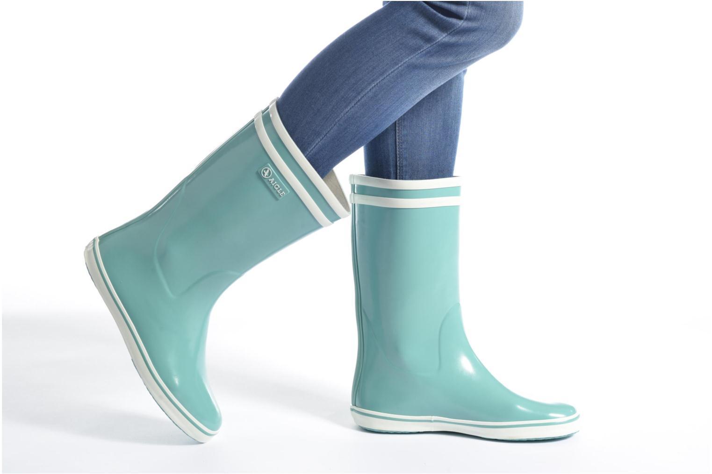 Stiefeletten & Boots Aigle Malouine BT blau ansicht von unten / tasche getragen