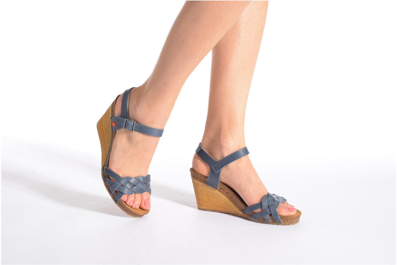 Sandales et nu-pieds Art Valby 439 Noir vue bas / vue portée sac