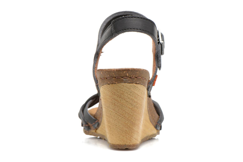 Sandales et nu-pieds Art Valby 439 Noir vue droite