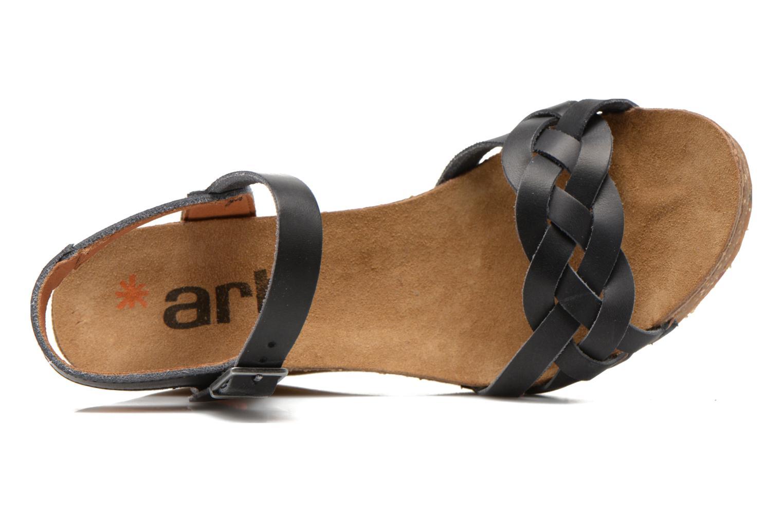 Sandales et nu-pieds Art Valby 439 Noir vue gauche