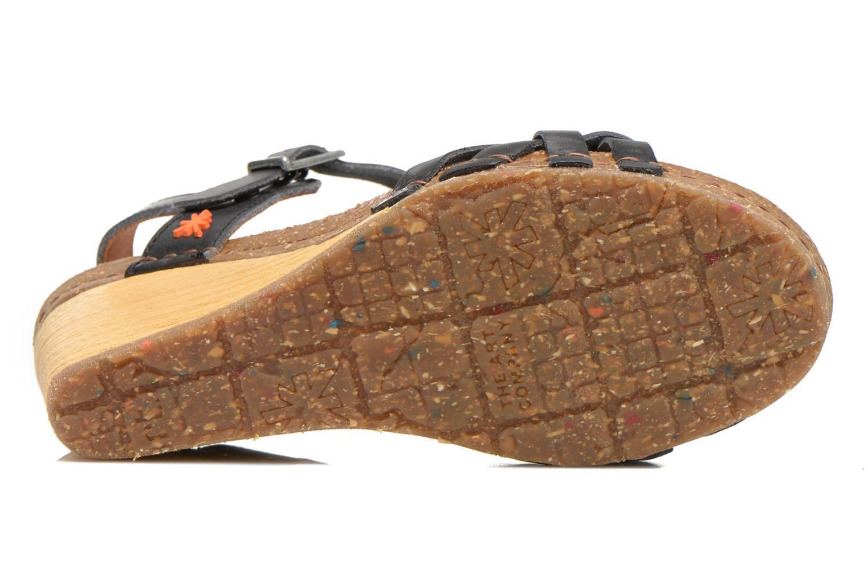 Sandales et nu-pieds Art Valby 439 Noir vue haut