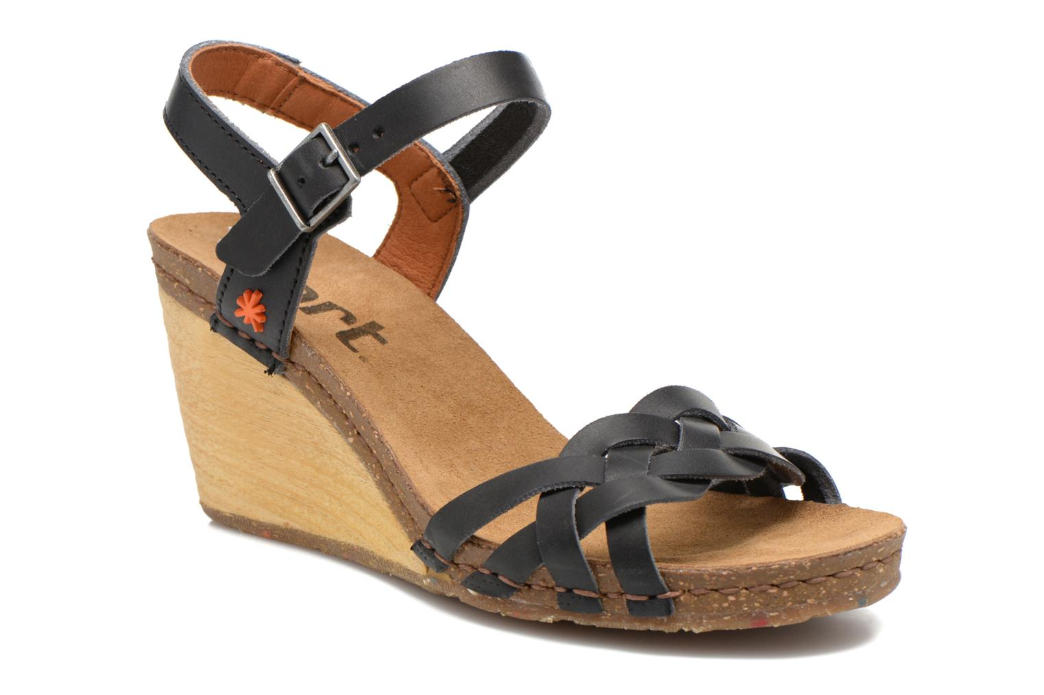 Sandals Art Valby 439 Black detailed view/ Pair view