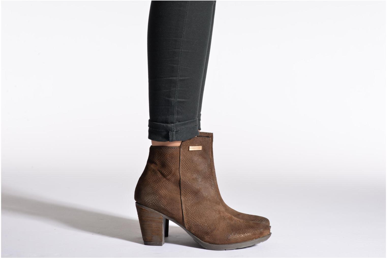 Ankle boots Les Tropéziennes par M Belarbi Lune Brown view from underneath / model view