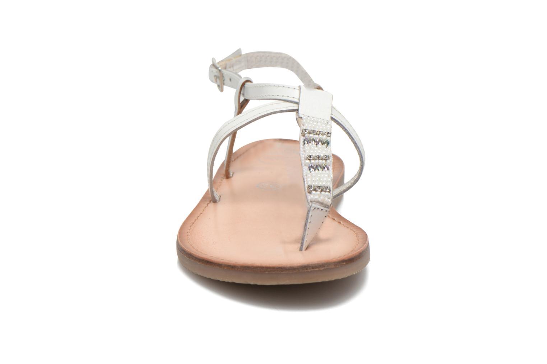 Sandalias Initiale Paris Miro Blanco vista del modelo