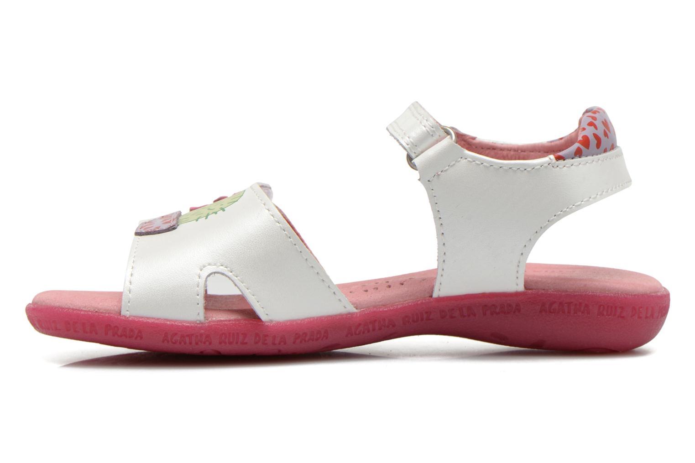 Sandales et nu-pieds Agatha Ruiz de la Prada Jardino Blanc vue face