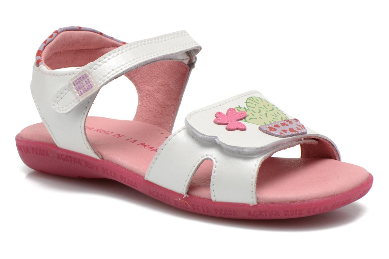 Sandales et nu-pieds Agatha Ruiz de la Prada Jardino Blanc vue détail/paire