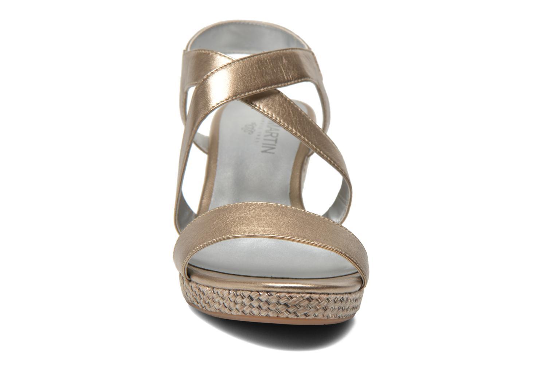 Sandals JB MARTIN Quetza Bronze and Gold model view