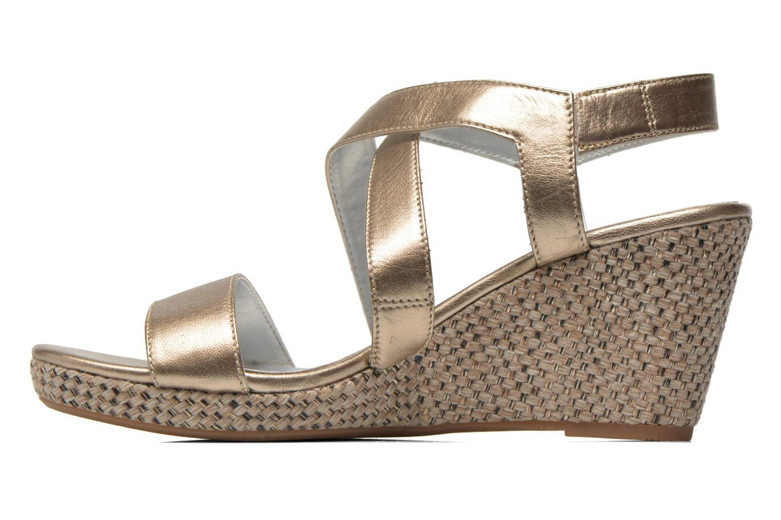 Sandals JB MARTIN Quetza Bronze and Gold front view