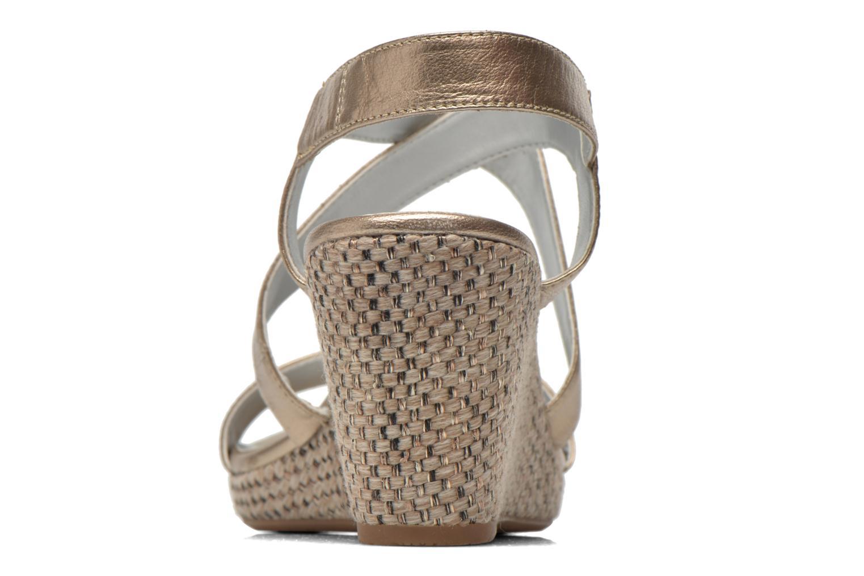 Sandales et nu-pieds JB MARTIN Quetza Or et bronze vue droite
