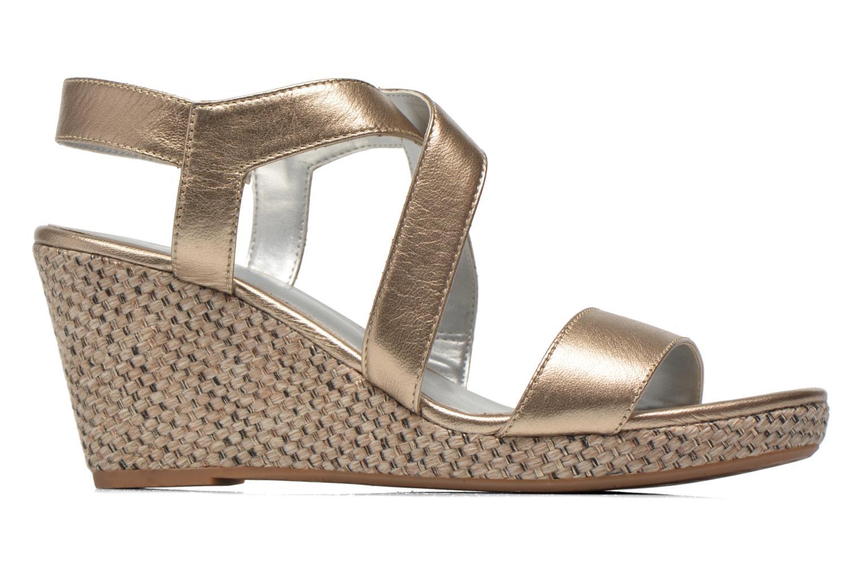 Sandales et nu-pieds JB MARTIN Quetza Or et bronze vue derrière