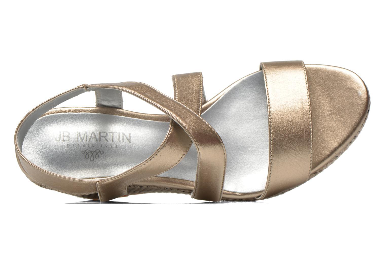 Sandalias JB MARTIN Quetza Oro y bronce vista lateral izquierda