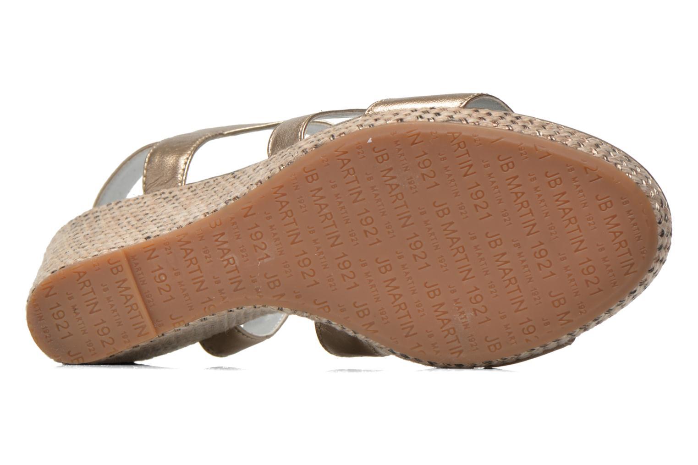 Sandales et nu-pieds JB MARTIN Quetza Or et bronze vue haut