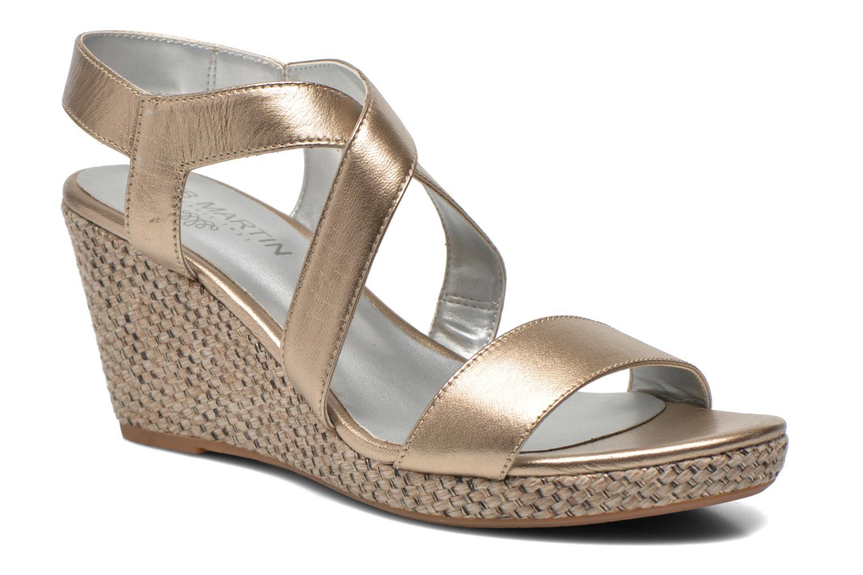 Sandales et nu-pieds JB MARTIN Quetza Or et bronze vue détail/paire