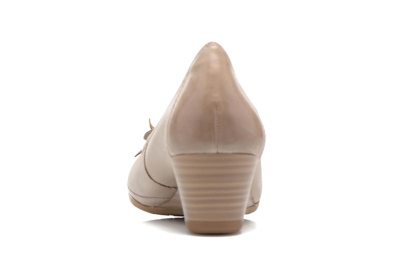 Zapatos de tacón Marco Tozzi Nikuta Beige vista lateral derecha