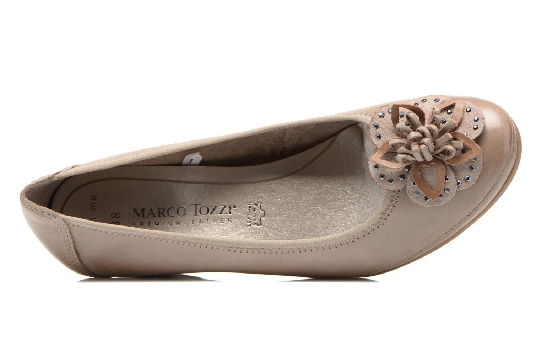 Zapatos de tacón Marco Tozzi Nikuta Beige vista lateral izquierda